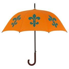 San Francisco Umbrella Animal Umbrella - Fleur de Lys - Orange/Blue