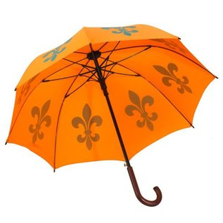 Animal Umbrella - Fleur de Lys - Orange/Blue