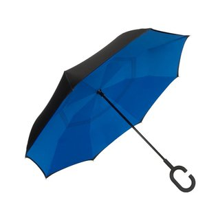 UnbelievaBrella™ Reverse Umbrella - Black/Blue