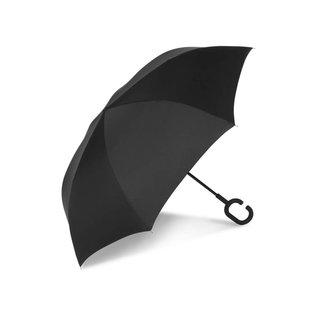 UnbelievaBrella™ Reverse Umbrella - Black/Dots