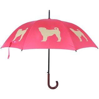 San Francisco Umbrella Pug Umbrella - Red/White
