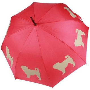 San Francisco Umbrella Pug Umbrella - Red/White