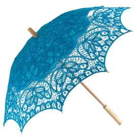 Goldenstate Lace Parasol Turquoise