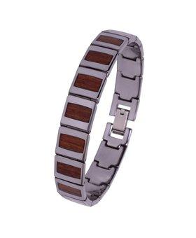 Bracelet de Tungstène et Bois #BT002