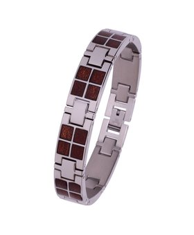 Stainless and Wood Bracelet #BT001