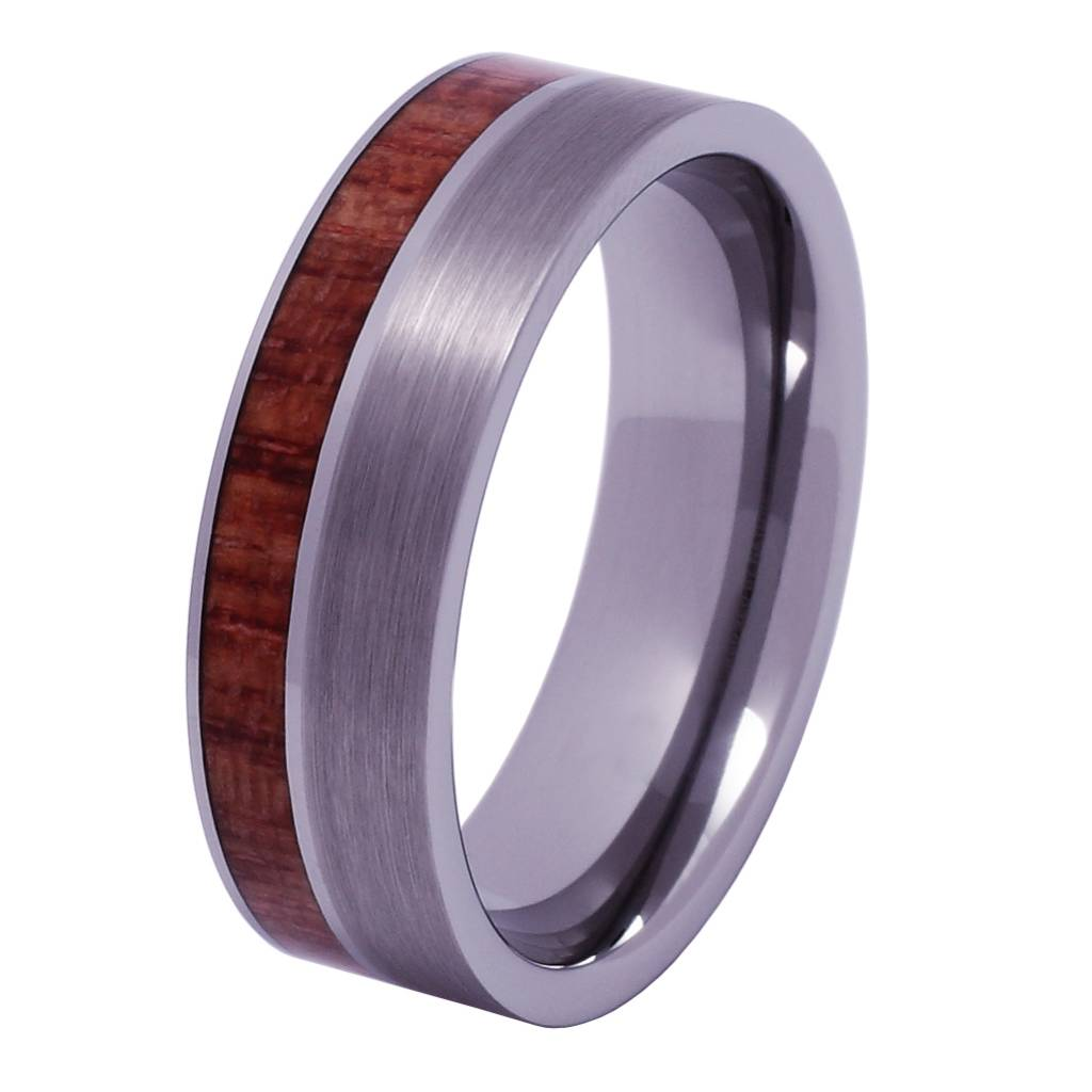 Tungsten and wood ring #KT011