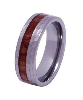 Tungsten and wood ring #KT012