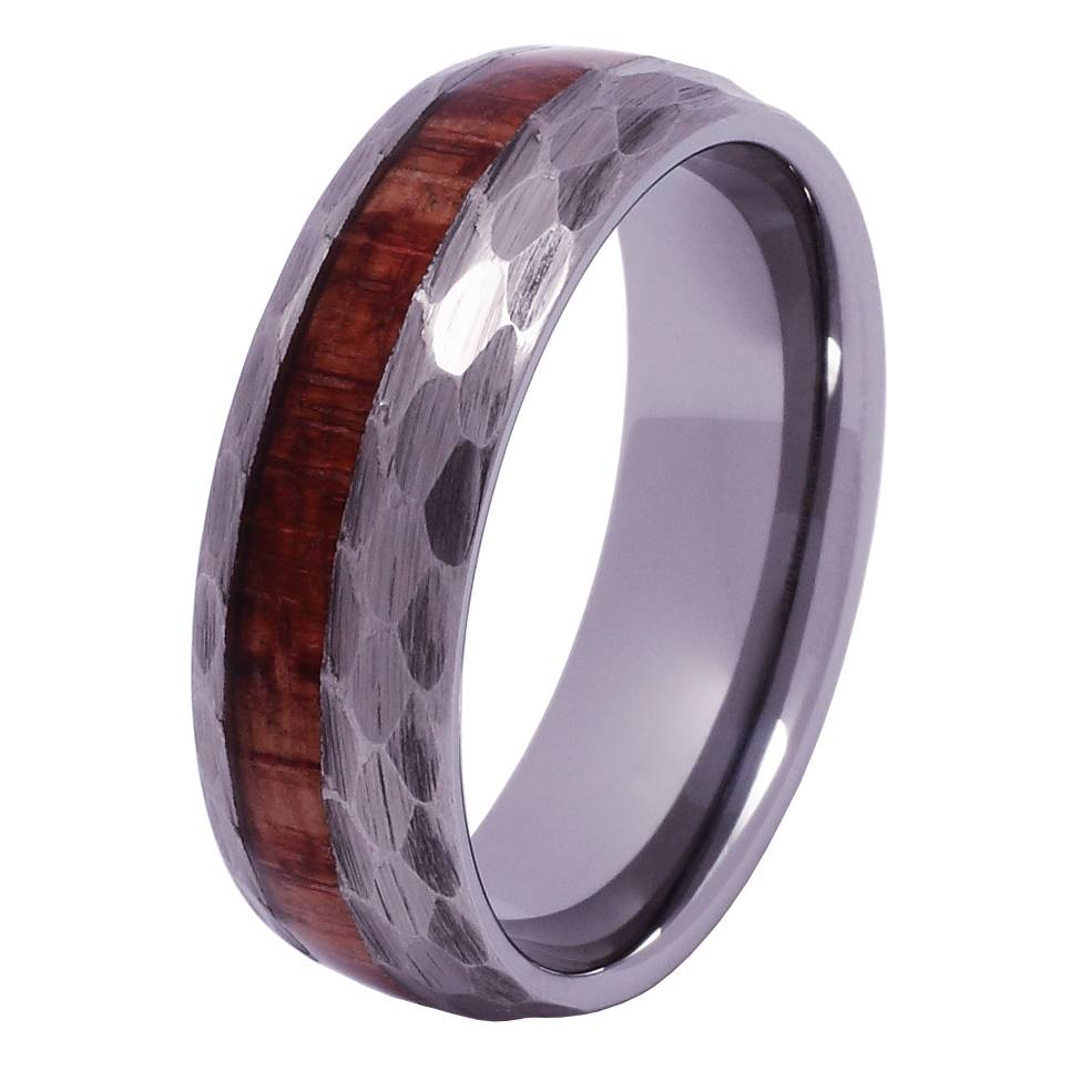 Tungsten and wood ring #KT014