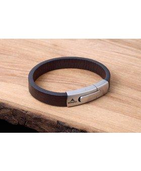 Bracelet de Cuir et Stainless #KC004BR