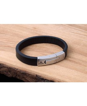Leather and Stainless Bracelet #KC004BK