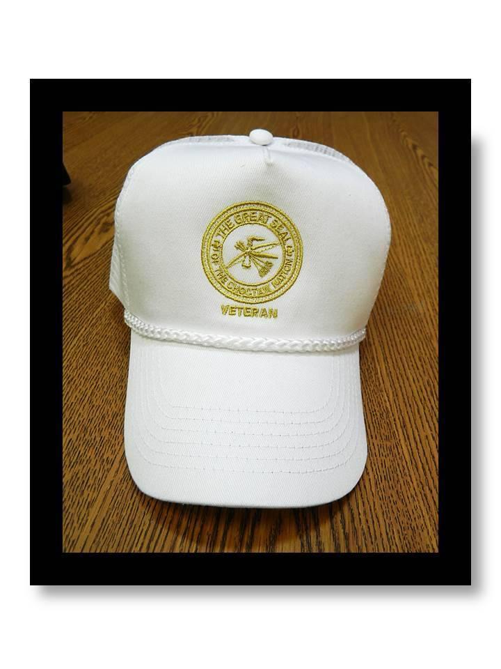 """CNO Veteran"" Cap WHITE Mesh with Gold CNO Seal"