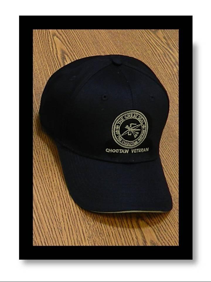 """""""CNO Veteran"""" Sandwich Cap BLACK with Khaki Seal"""