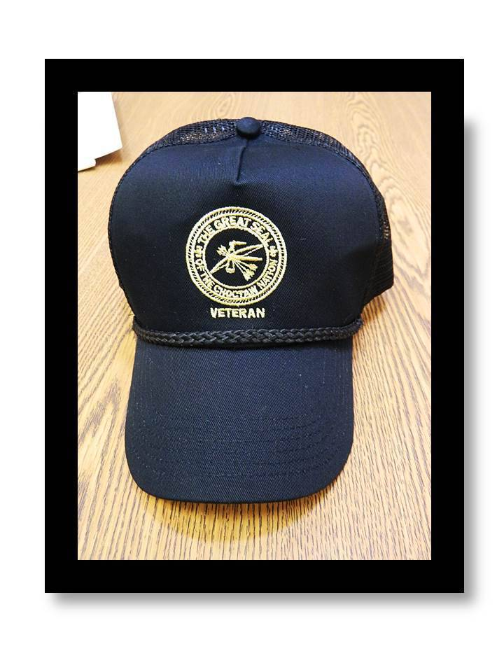 """CNO Veteran"" Cap BLACK Mesh with Gold CNO Seal"