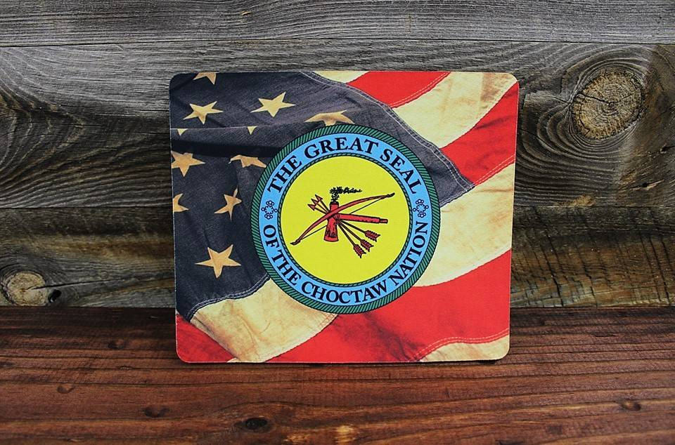 Mousepad with Choctaw Nation Seal & American Flag