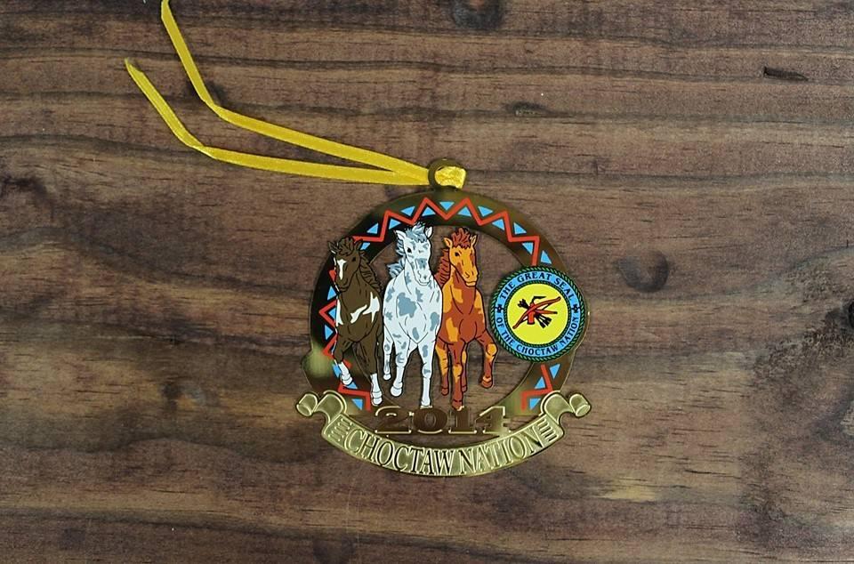 "CNO ""Choctaw Ponies"" 2014 Christmas Ornament"