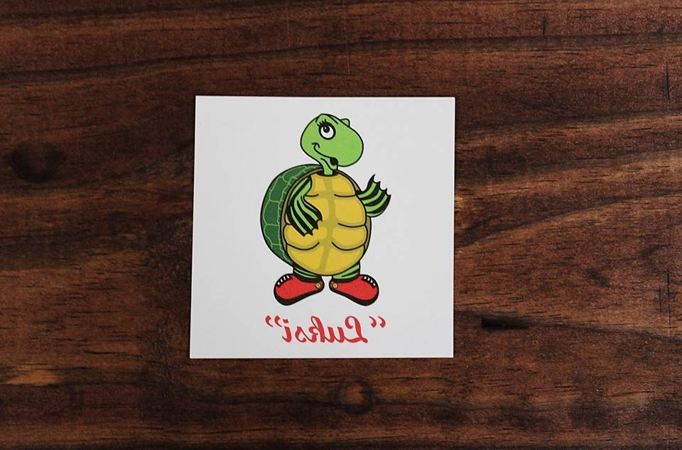 "Temporary Tattoo ""Luksi"" Turtle 3"" Diameter"
