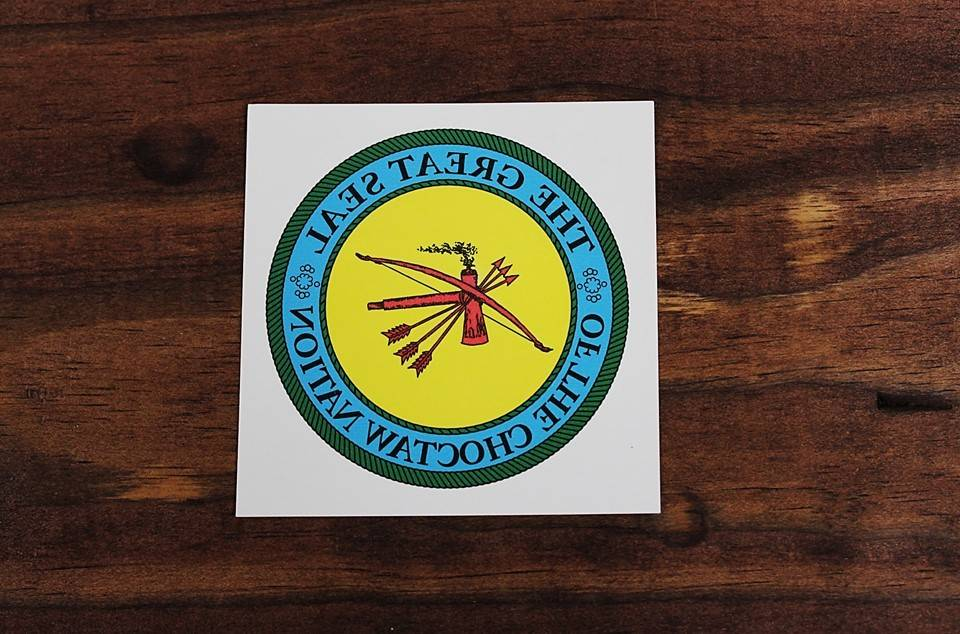 "Temporary Tattoo ""Choctaw Nation Seal"" 3"" Diameter"