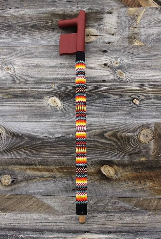 *JBA Hand Carved Beaded Pipe