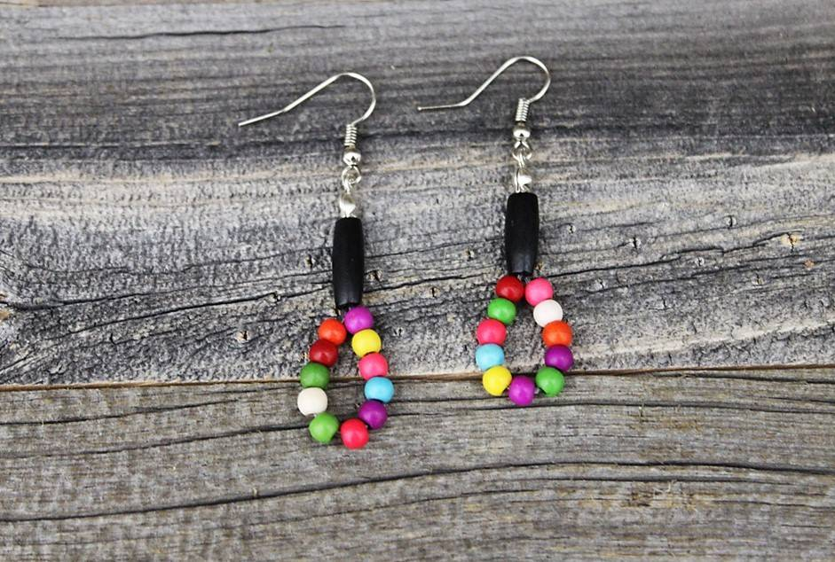 *BG MultiColored Beads Beaded Earrings