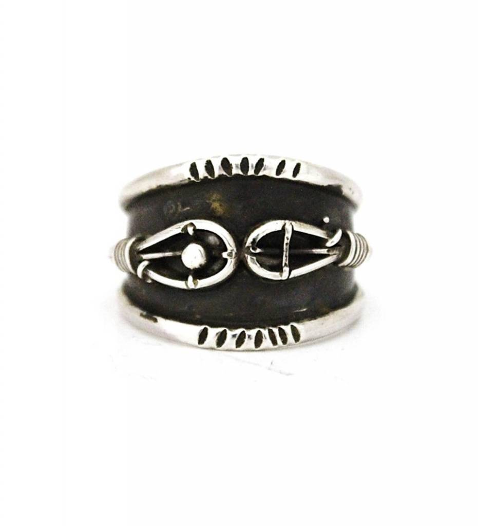 "Jerry Lowman JL Men's Silver ""Stickball"" Design Ring"