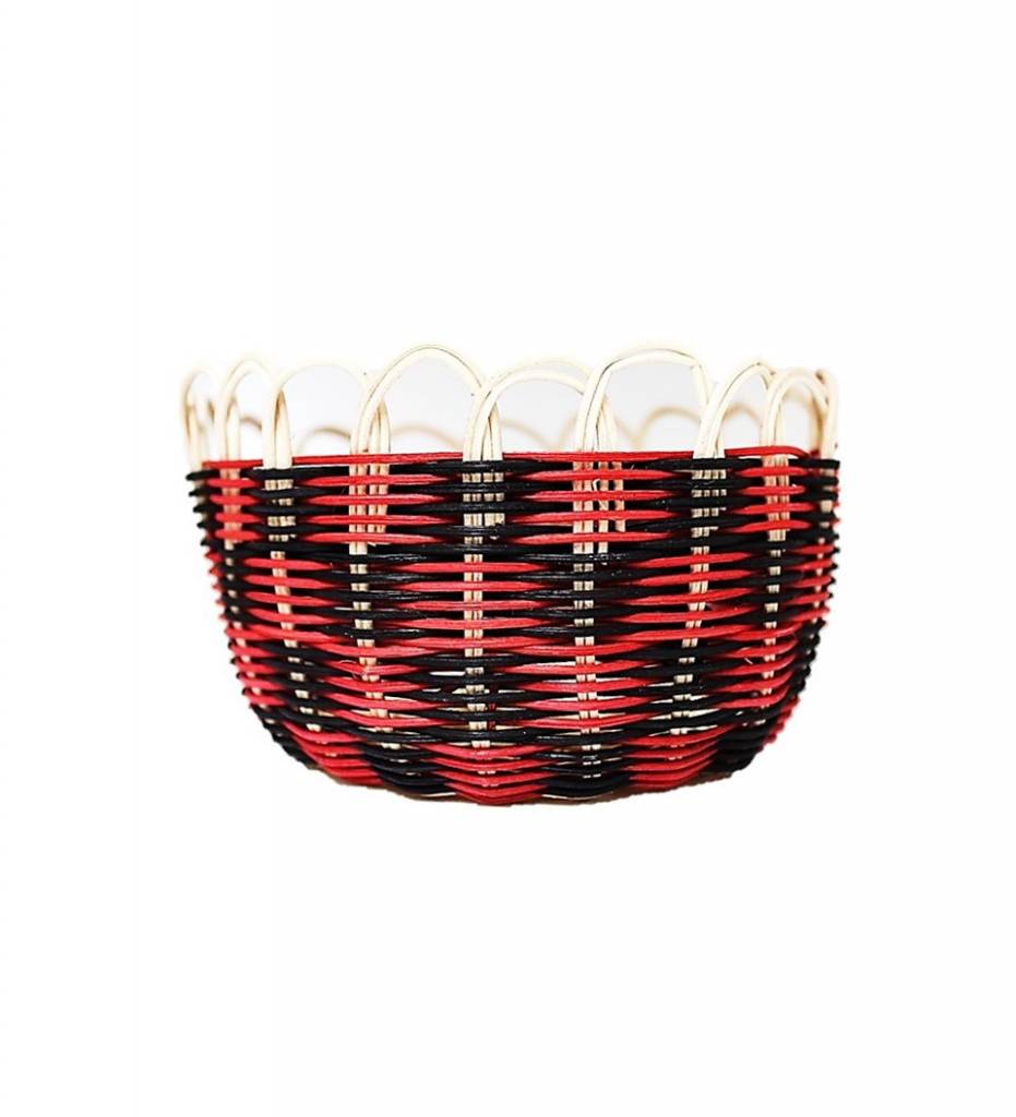 *LA Red and Black Reproduction Choctaw Basket