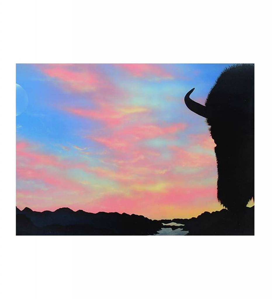 "*RE ""Buffalo At Sunrise"" Print 11 X 14"