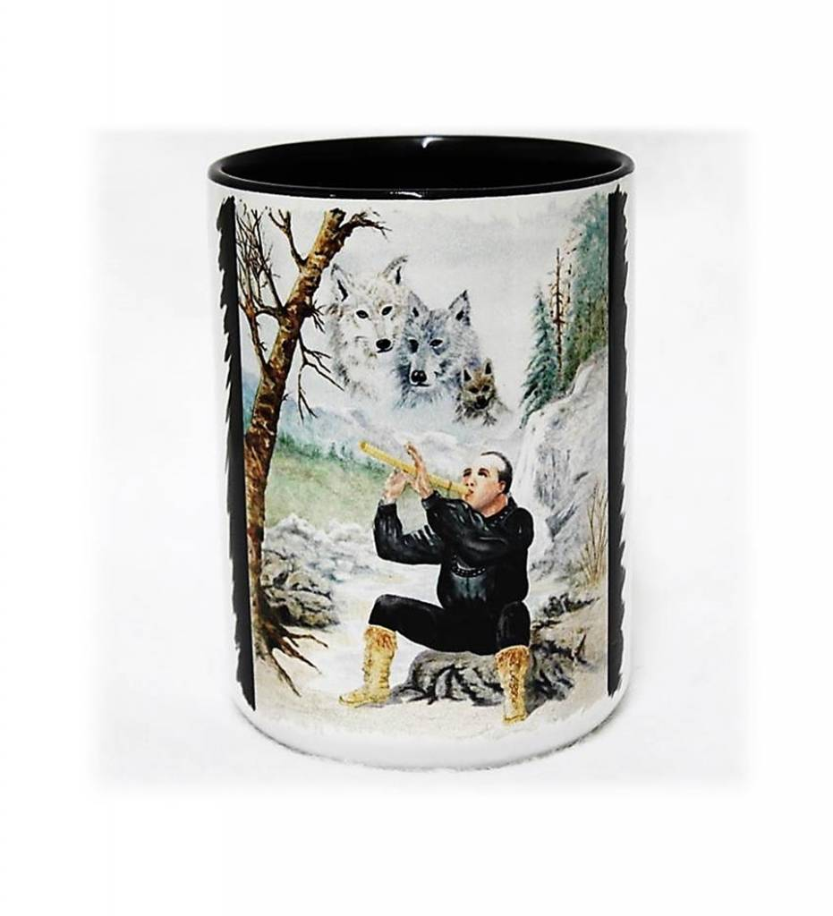 "CA ""Song for the Spirit Wolves"" Coffee Mug"