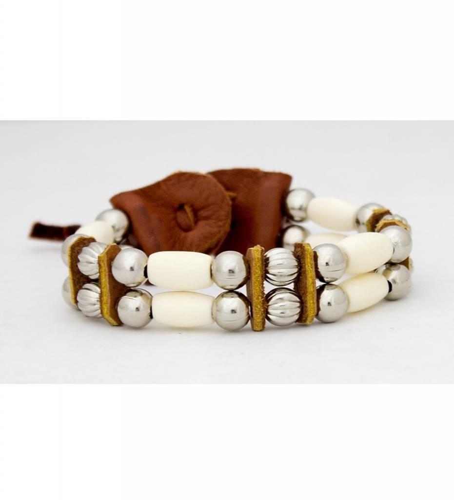 DP Two Strand Bone & Bead Bracelet