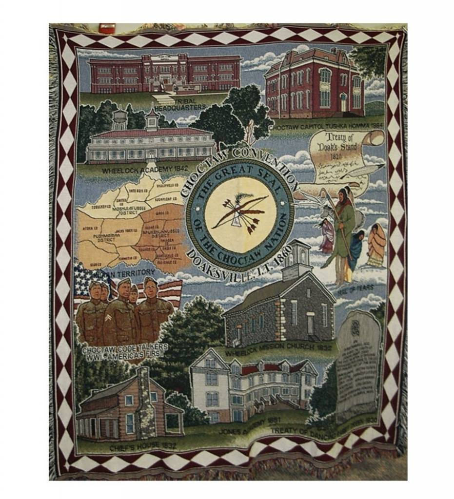 Choctaw Historical Tapestry Throw