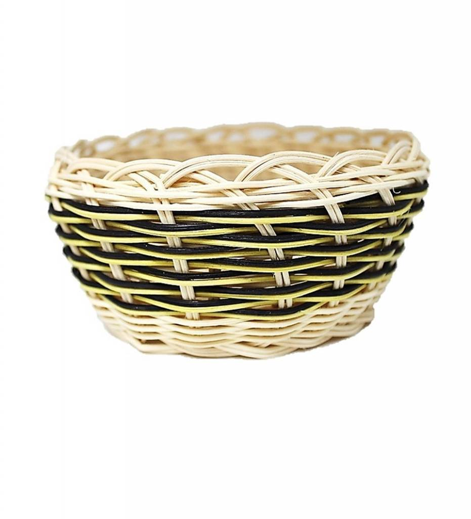*LA Black and Yellow Multi Colored Basket