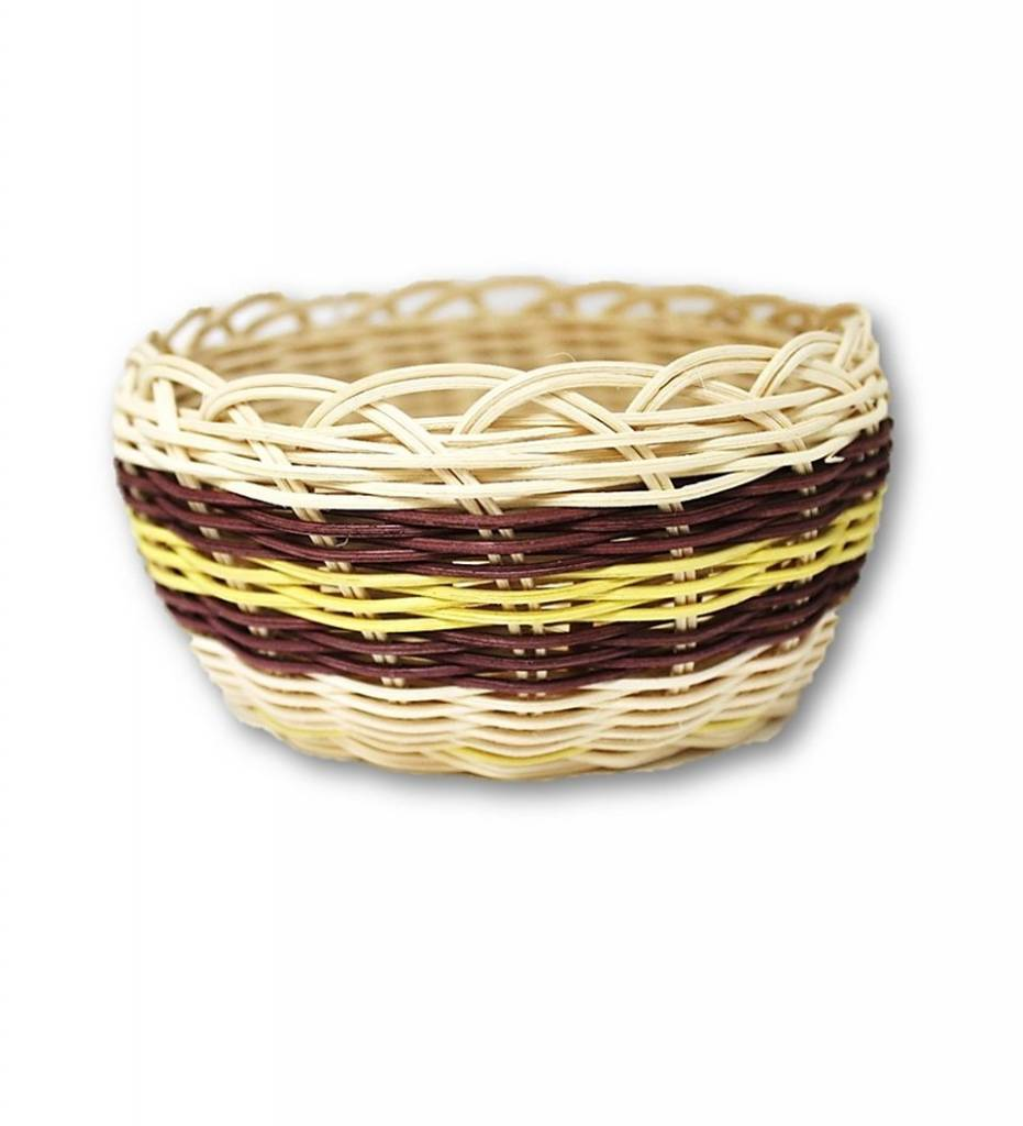*LA Maroon and Yellow Multi Colored Basket