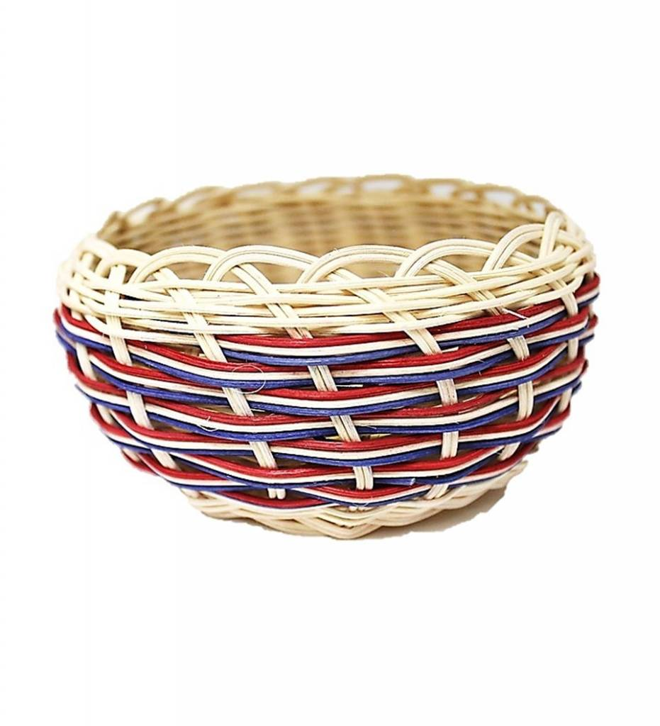 *LA Red and Blue Multi Colored Basket