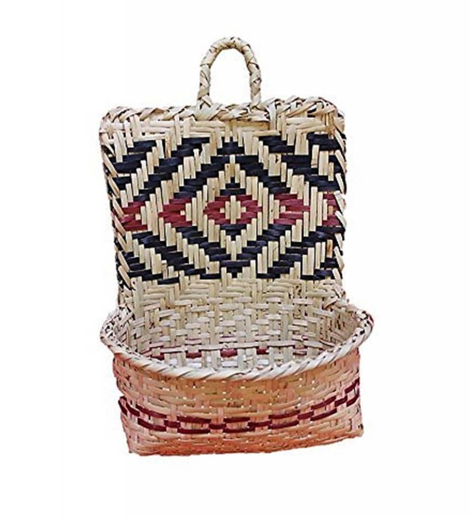 *ES Natural Pocket Handwoven Basket