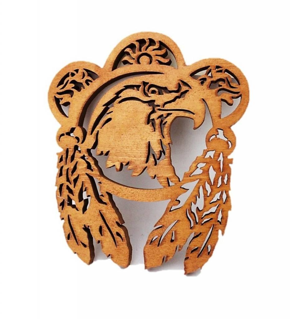 *BB Wooden Eagle Plaque