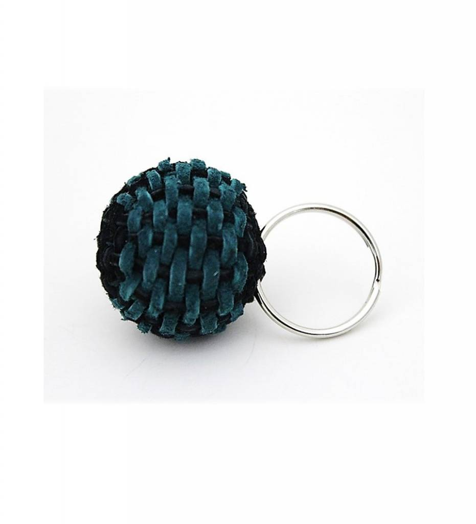 NHB Stickball Keychain TEAL & BLACK Small