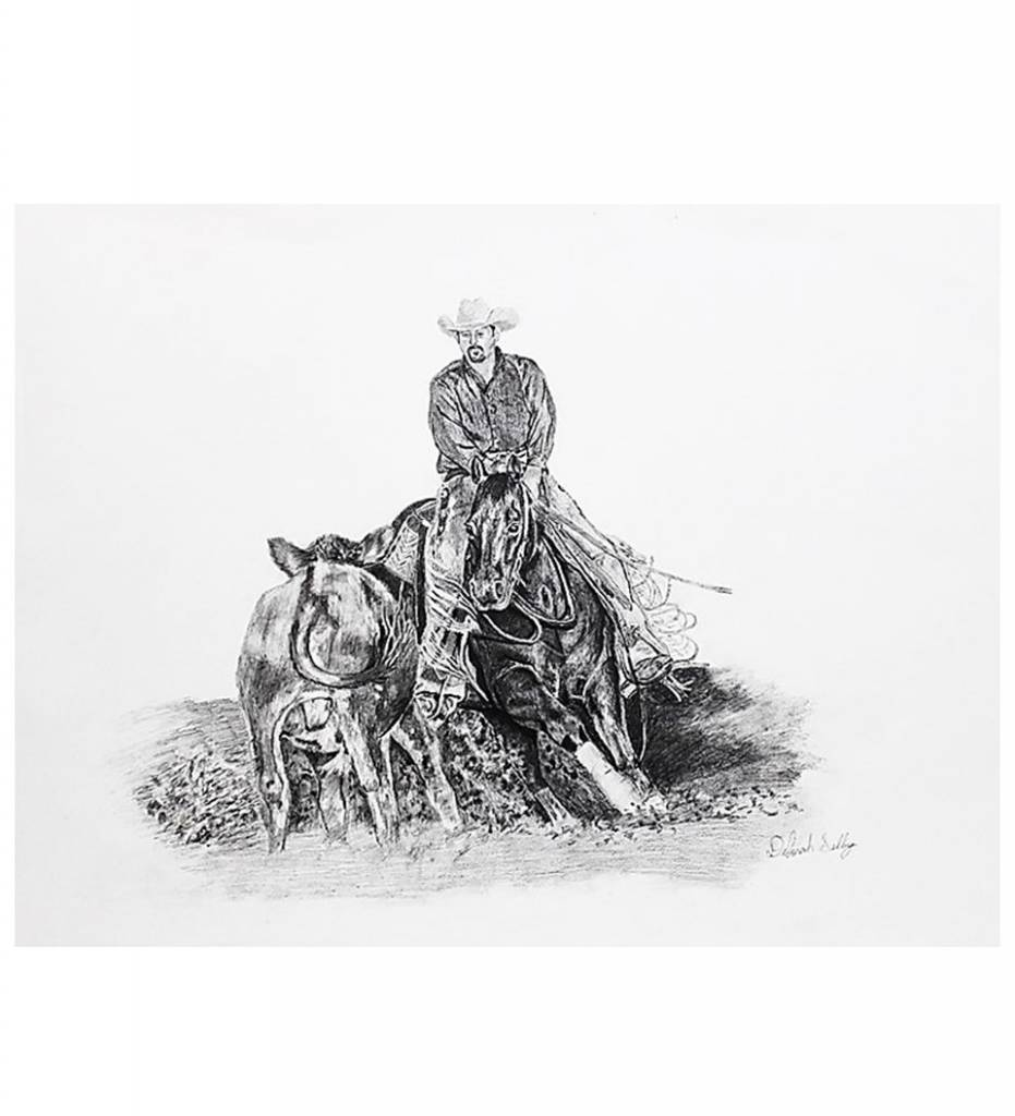 "*DS ""Cowboy"" Pencil Drawing Print"