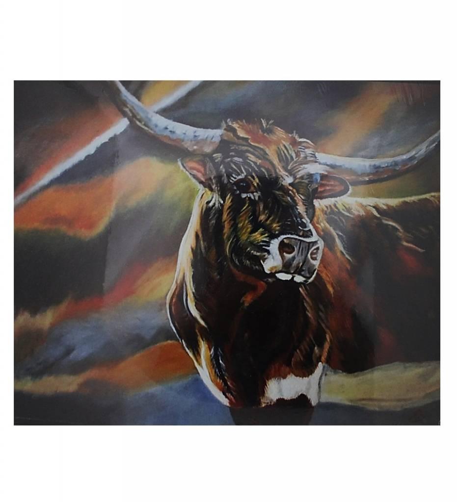 """*DS """"Longhorn Steer"""" Print 11"""" X 14"""""""