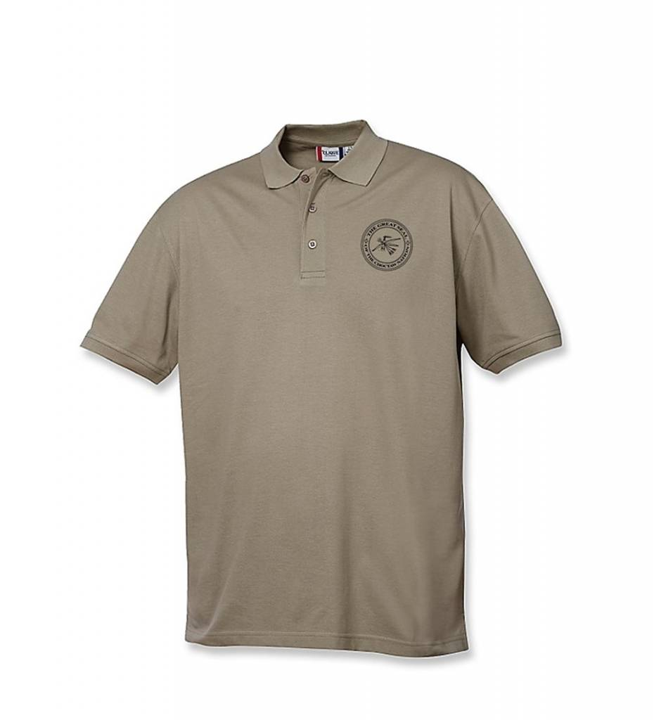 """Polo Shirt with Embroidered """"THE GREAT SEAL OF THE CHOCTAW NATION"""""""