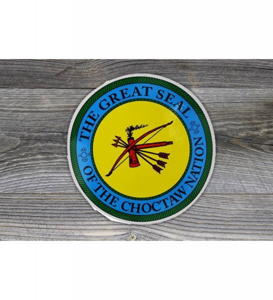 """THE GREAT SEAL OF THE CHOCTAW NATION"" 18 inch decal BACK ADHESIVE"