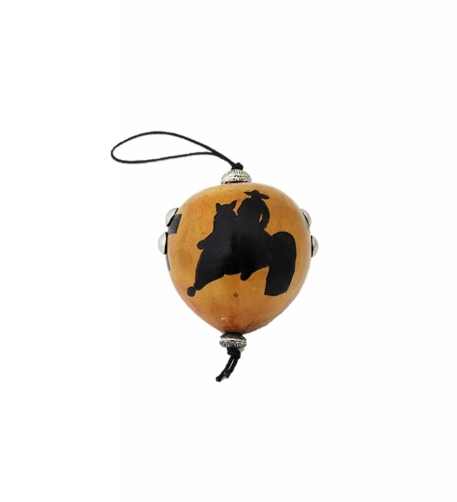 """*KB """"Barrel Racer"""" Gourd Ornament"""