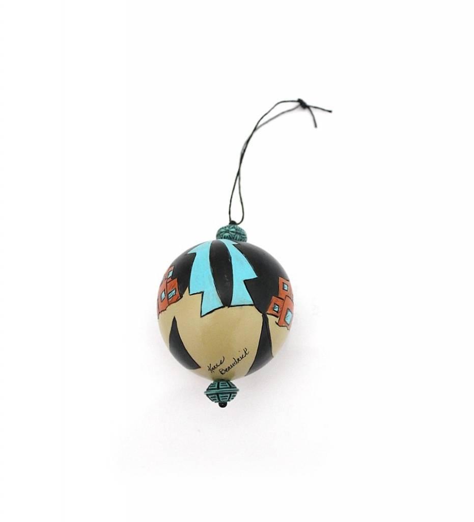 "*KB ""Pueblo"" Gourd Ornament"