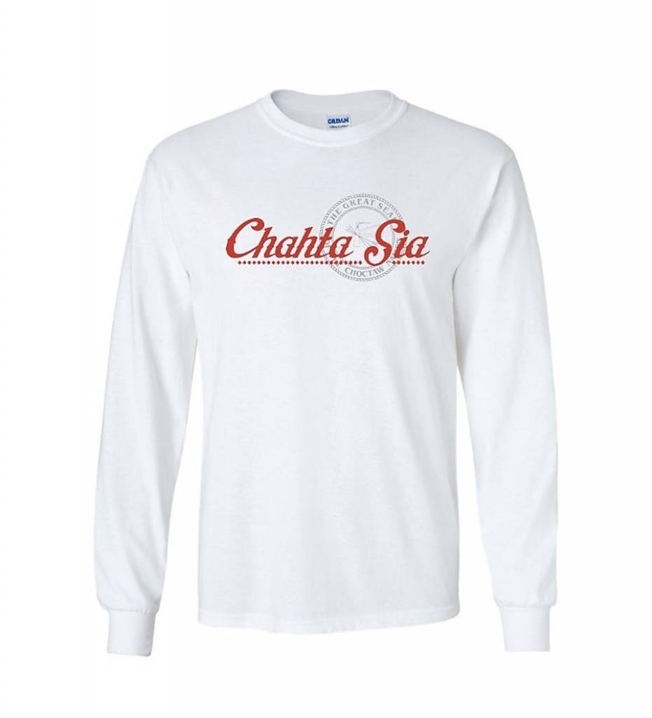 """Chahta Sia"" Long Sleeve T-Shirt WHITE"