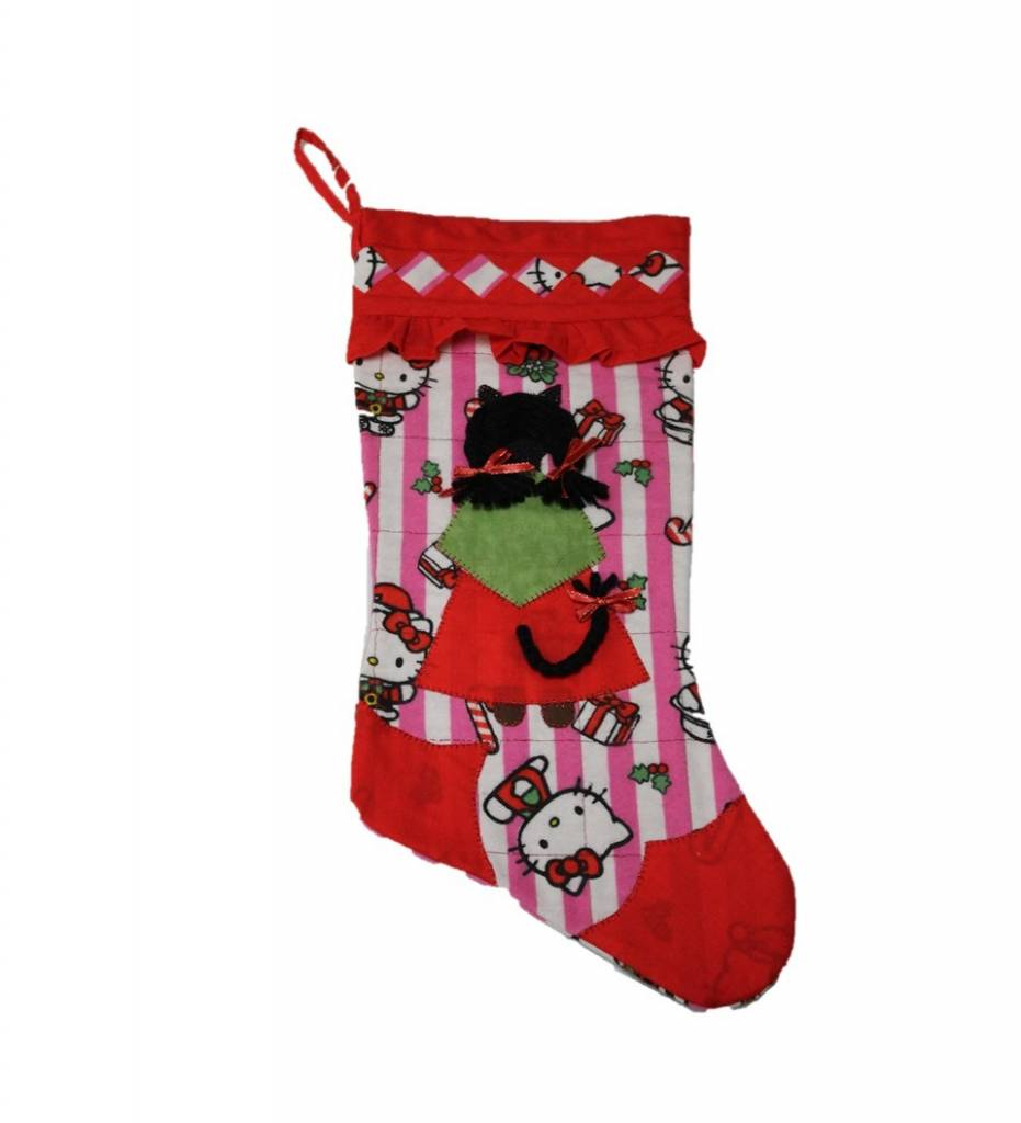 tc my little kitten doll quilted christmas stocking - Quilted Christmas Stockings