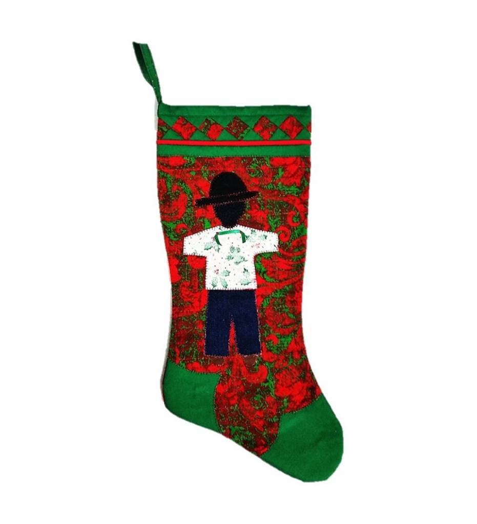 *TC Red & Green BOY Stocking