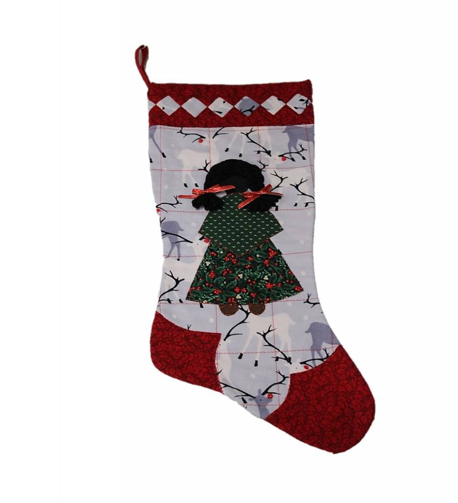 *TC Reindeer with GIRL Stocking