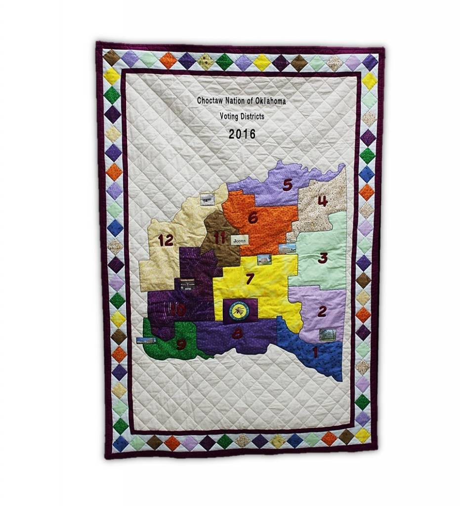 "*TC ""Voting Districts"" Handsewn Quilt with Sleeve for Hanging"
