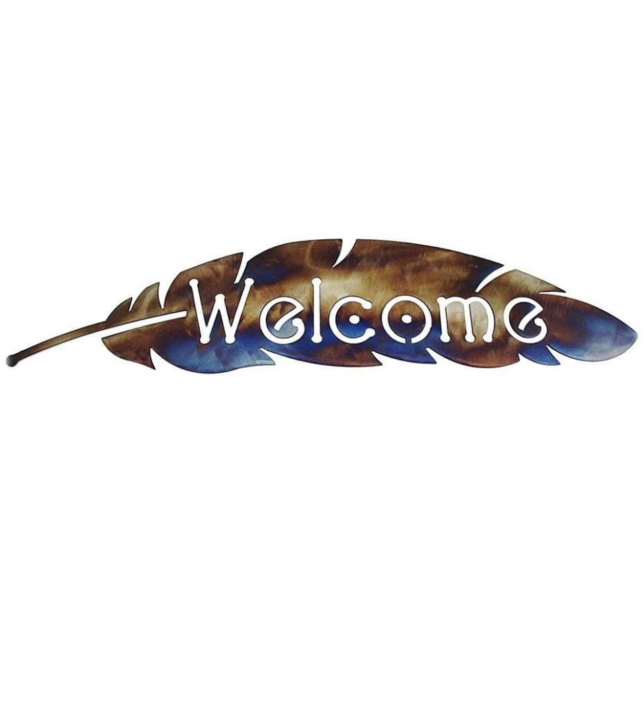 "*BMW ""Welcome"" Feather Metal Artwork Large"