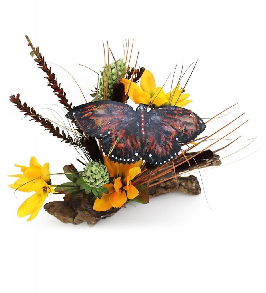 "*KB ""Orange Butterfly"" Gourd Artwork"