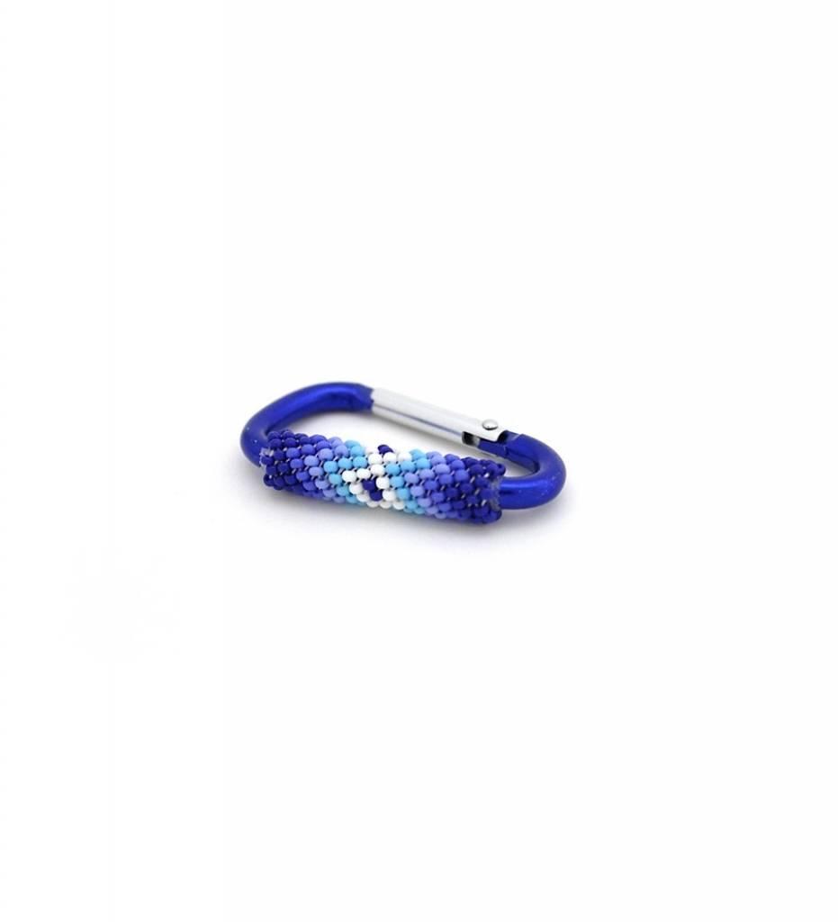 *JBA Beaded Carabiner Keychain SMALL