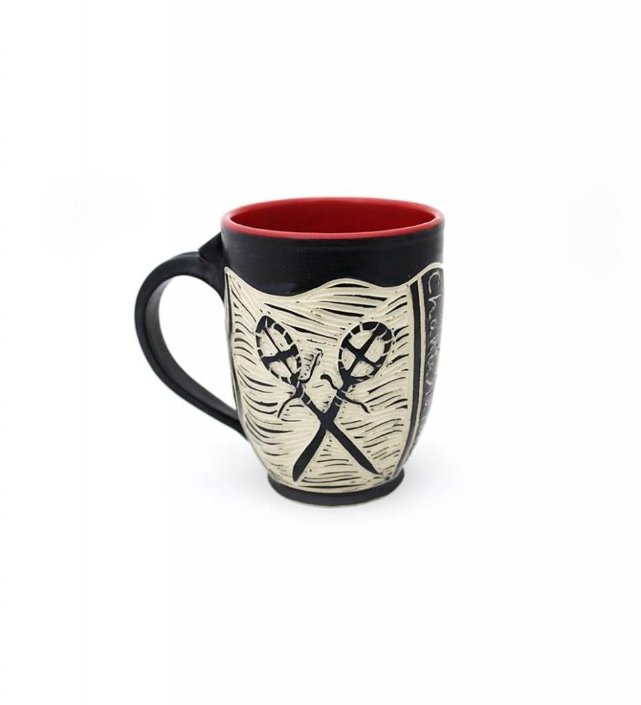 "*CBY ""Stickball"" Coffee Mug RED"